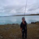 Anglaer am Lake Haweka
